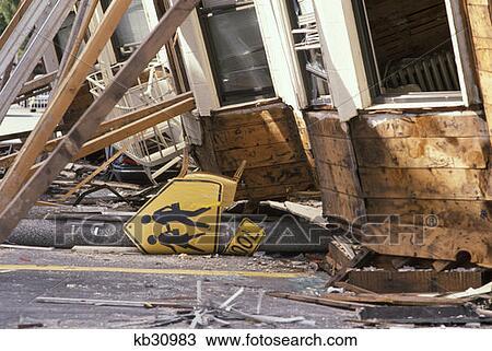 Stock Foto Marina Gebiet San Francisco 1989 Erdbeben