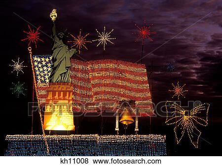 oglebay park christmas light show statue of liberty display wheeling west virginia - Oglebay Park Christmas Lights