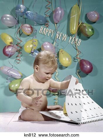 1970s party baby new year balloons streamers