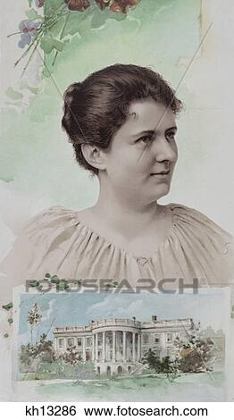 1800s 1880s Portrait First Lady Francis Folsom Cleveland