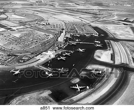 1950s Aerial Of Idlewild Airport Now John F Kennedy Airport New