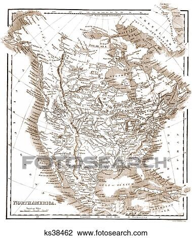 1800s Map Of America.Stock Photo Of 1800s 1850 Map Of North America By Samuel Walker