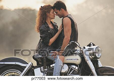 stock photo of couple on motorcycle pr77003 search stock images