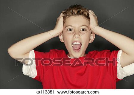 stock photography of boy screaming ks113881 search stock photos