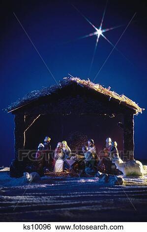 Christliche Weihnachten.Welt Religionen Feier Christliche Weihnachten Feiertag Geburt Stock Fotograf