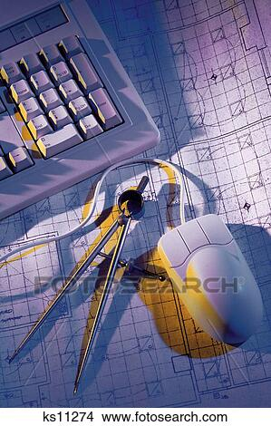 Stock photo of computer input architecture blueprint computer computer input architecture blueprint computer concepts construction malvernweather Choice Image