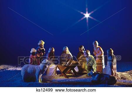 Christliche Weihnachten.Weihnachten Christliche Weihnachten Dekorieren Feiertag Geburt Stock Foto