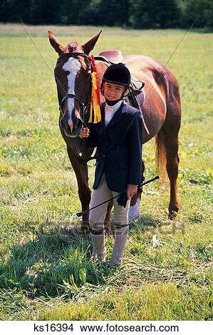 Kids 2 Animal Child Children Compeion Equestrian