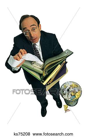 Funny Business, Bookkeeper, Business, Calculating, Calculator, Characters  Stock Photo