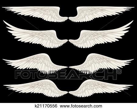 天使翼 イラスト K21170556 Fotosearch
