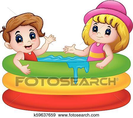 Swimming Pool Boy swimming circle clipart free image