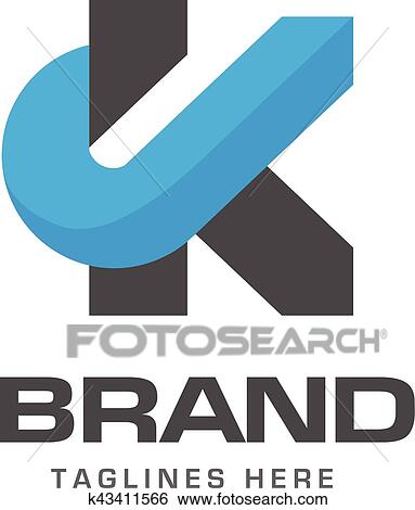 clip art creative letter k template logo fotosearch search clipart illustration posters