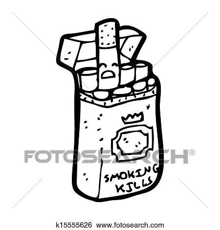 Dessin Paquet De Cigarette banque d'illustrations - dessin animé, paquet, de, cigarettes