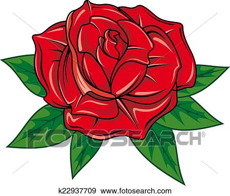 Rose Rouge Clipart