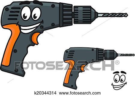 Clipart sourire bricolage perceuse main a - Clipart bricolage ...
