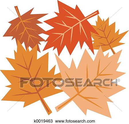 Fall Leaves Drawing K0019463 Fotosearch