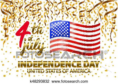 Clipart of gold glitter independence day usa greeting card flyer gold glitter independence day usa greeting card flyer july fourth poster patriotic banner for website template usable for 4th of july background logo m4hsunfo