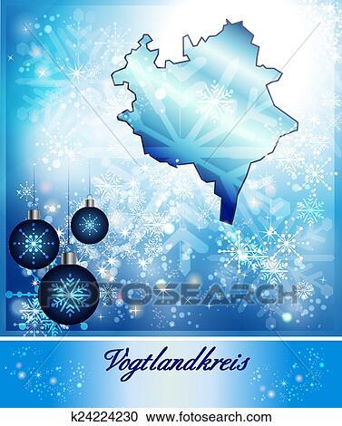 Landkarte Von Vogtlandkreis Clipart K24224230 Fotosearch