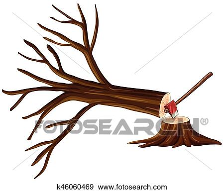 clip art of deforestation scene with chopped tree k46060469 search rh fotosearch com Rainforest Deforestation deforestation clipart drawings