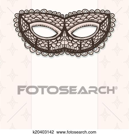 clipart of masquerade mask on a beige background k20403142 search