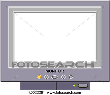 clipart of monitor frame k0023361 search clip art illustration