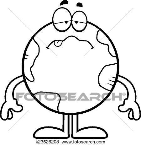 clip art of sick cartoon earth k23526208 search clipart