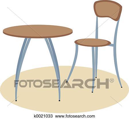 Disegno - tavola, e, sedia k0021033 - Cerca Clipart, Illustrazioni ...
