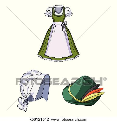 Country Germany cartoon icons in set collection for design ...