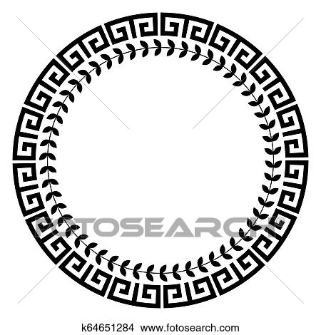Greek Key Round Border, HD Png Download - 720x720(#6495474) - PngFind