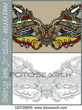Clipart - libro colorante, pagina, per, adulti, -, fiore, disegno de ...