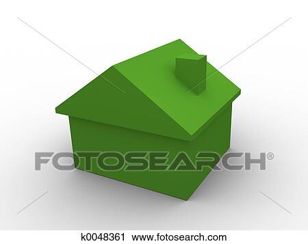Clipart 3d Maison K0048361 Recherchez Des Clip Arts Des