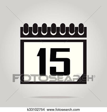 Calendario Icona.Calendario Icona Numero 15 Clipart