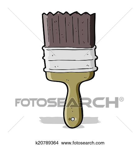 Cartoon Paint Brush Clipart K20789364