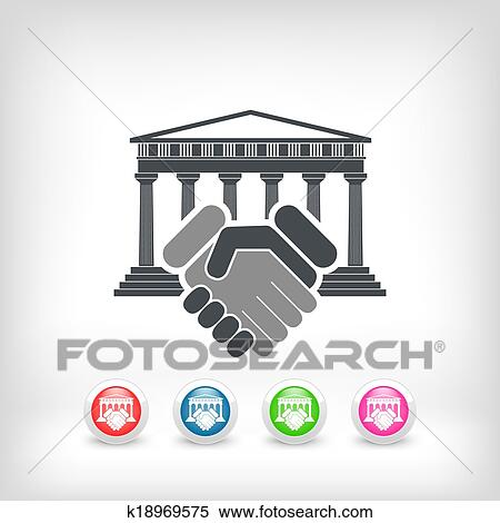Clipart Of Courthouse Agreement K18969575 Search Clip Art