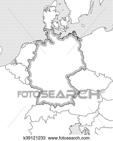 Landkarte Deutschland Clipart K39121233 Fotosearch