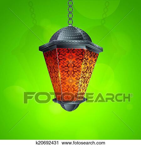 Clipart of traditional ramadan lantern k20692431 search clip art arab lantern as traditional decoration for islamic holy month ramadan greeting card design eps 10 file m4hsunfo