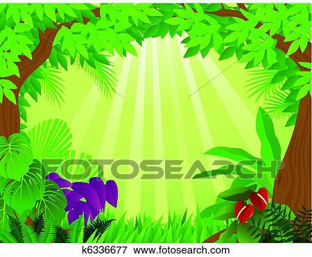clip art of tropical rainforest background k6336677 search clipart