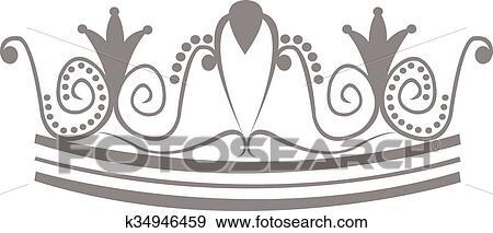ティアラ 王冠 ロゴ クリップアート K34946459 Fotosearch
