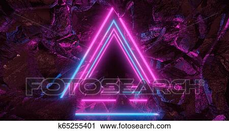 3d Rendering Abstract Background Space Landscape