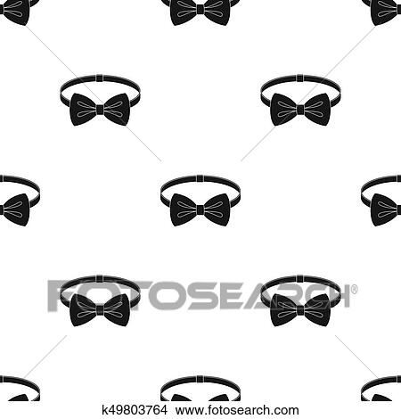 Drawings Of Bow Tie Icon In Black Style Isolated On White Background
