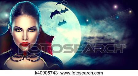 fantasy halloween woman portrait beauty sexy vampire