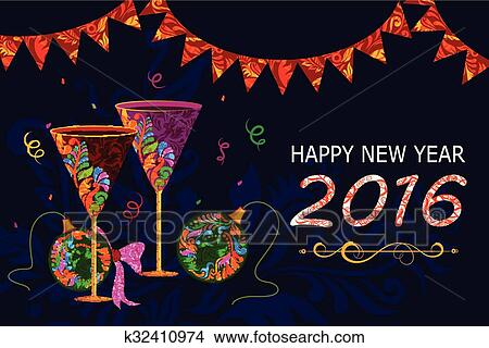 clipart happy new year celebration background fotosearch search clip art illustration murals