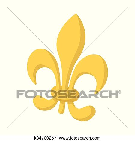 Clip Art Of Royal French Lily Icon Cartoon Style K34700257 Search