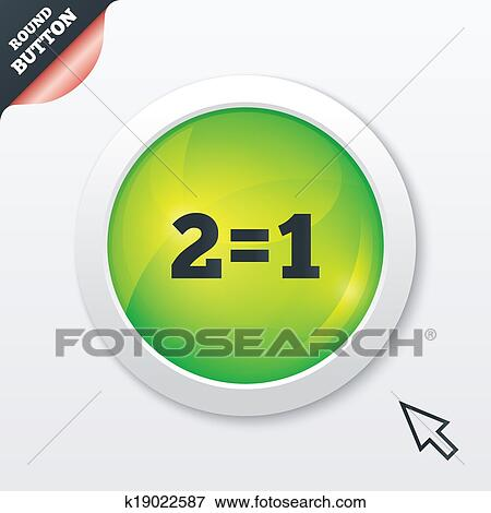 Two for one sign icon  Take two pay for one  Stock Illustration