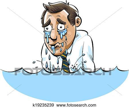 clip art of drowning in tears k19235239 search clipart rh fotosearch com drawing clipart black and white drowning clip art images