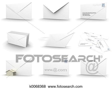 Dessin D Enveloppe banque d'illustrations - enveloppe, collage k0068368 - recherche de