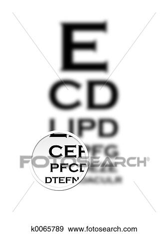 Stock Illustration Of Eye Chart K0065789 Search Vector Clipart