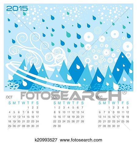 Hazır Ilüstrasyonlar Kiş Mevsim Kavram Takvim K20993527