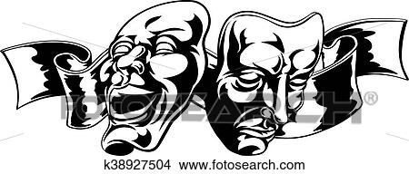 Theater Masks Clipart