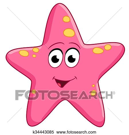 clipart of starfish is glad k34443085 search clip art rh fotosearch com starfish clip art free downloads starfish clip art shells